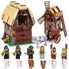 Lepin 16049 Creative Series The Mill Village Raid Set Genuine 7189 Building Blocks Bricks Legoing Educational