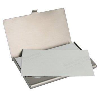 Visitenkarten Aus Aluminium | WholeTide 10 * Metall Business ID Kreditkarteninhaber Fall (Silber)