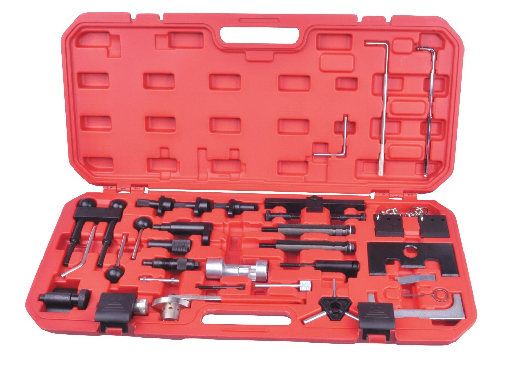 ФОТО BENBAOWO TOOLS  FOR Audi VW Engine Belt Adjust Locking Timing Tool Kit VAG Petrol Diesel Set 97-08