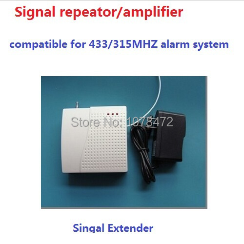 Wireless signal extender/repeator, signal ampplifer for 433MHZ 315MHZ home security alarm system,alarm amplifier golden security wireless signal repeater booster extender dual antenna transfer for home alarm security system 433mhz