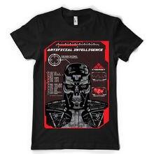 Artificial Intelligence robot mechanic war brains dtg mens t shirt teesTop Tee 100% Cotton Humor Men Crewneck Tee Shirts intelligence in war