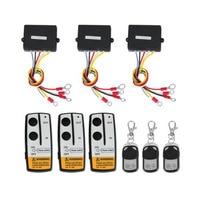 Marsnaska high quality 3 Wireless Winch Remote Control Set Kit 12V For Truck Jeep SUV ATV