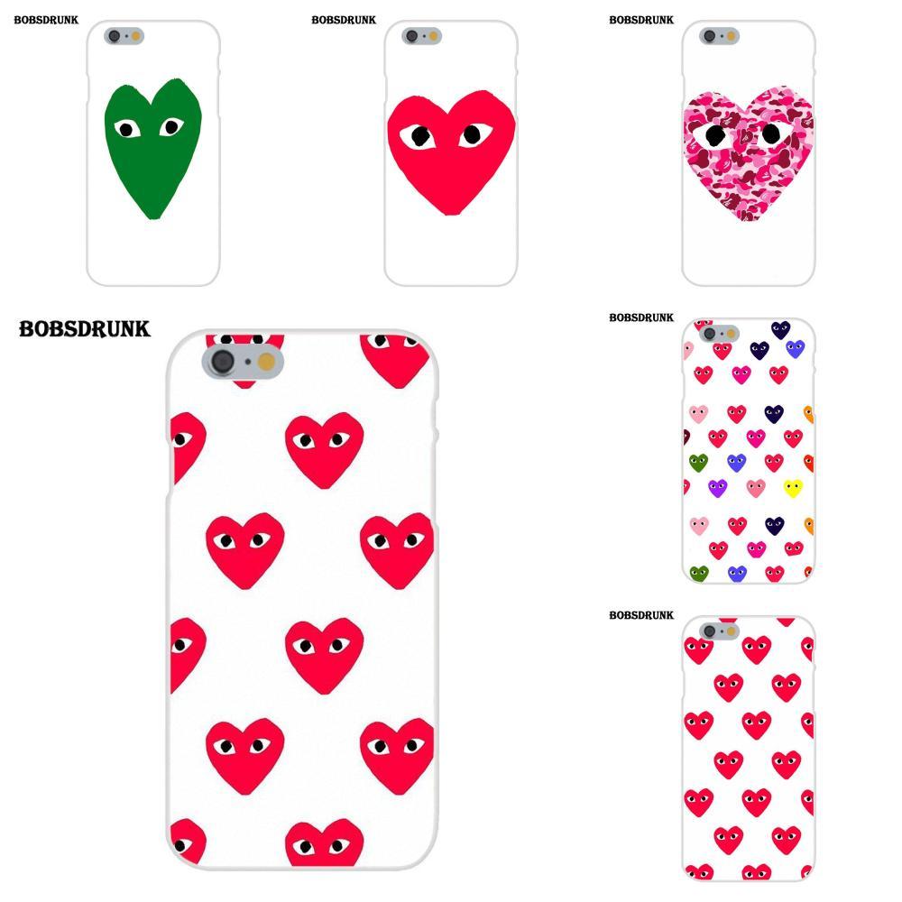 EJGROUP Soft Personalized Pattern Comme Des Garcons Collage For Apple iPhone 4 4S 5 5C SE 6 6S 7 8 Plus X