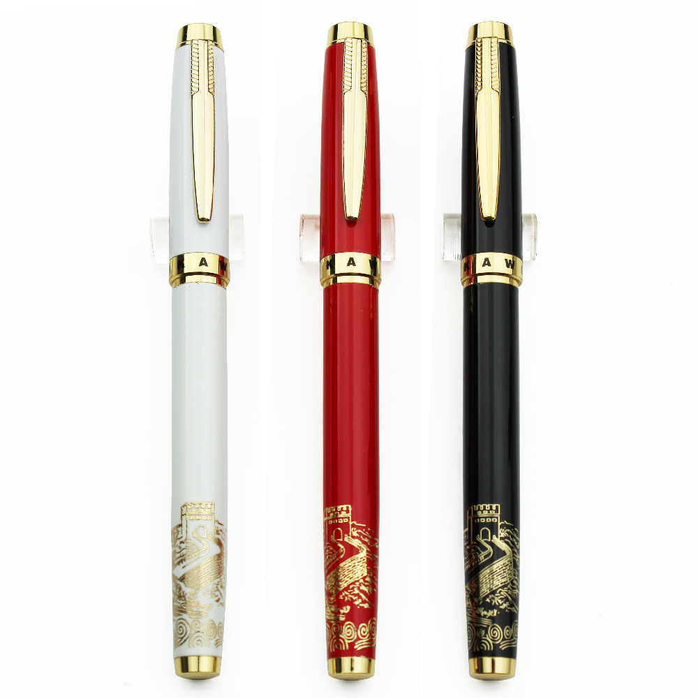Fountain pen & Gel ink RollerBall pen DIKAWEN885 Roller Ball sign pen office&school stationery wholesale 15pcs/lot Free Shipping 8pcs lot wholesale fountain pen black m 14 k solid gold nib or rollerball pen picasso 89 big executive stationery free shipping
