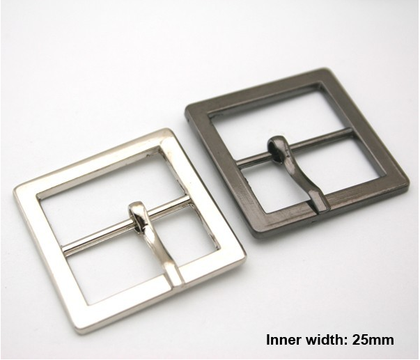 Wholesale Free shipping 20pcs lot 25mm fashion metal buckle with pin silver  black high 35e9d7a686fd4