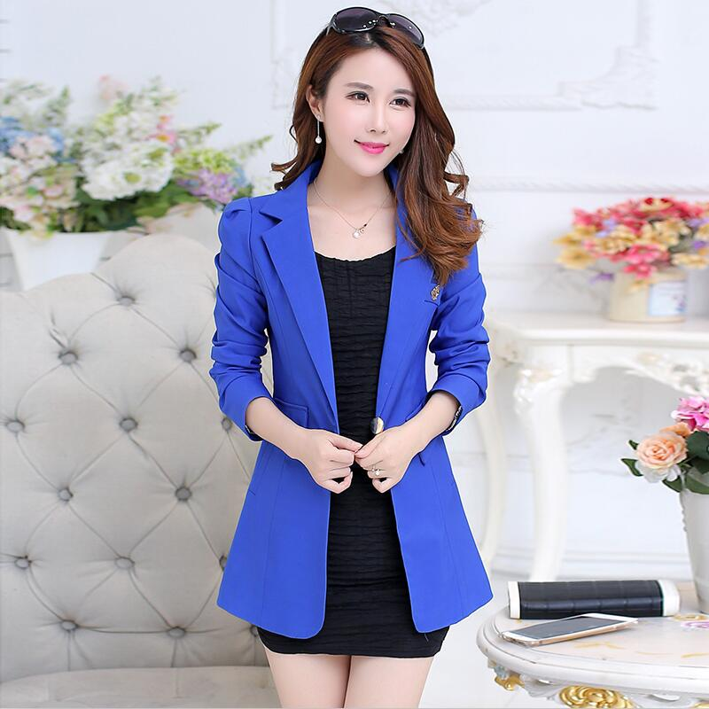 Blazer Women Suit 2020 New Long Sleeve Blazers Women Clothing Long Slim Spring And Autumn Suits Female Outerwear Blue