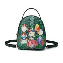 9185799e556c4 2018 new hot fashion and good quality Ms. bag quilting forest girl printing  green PU leather fashion trend shoulder bag women