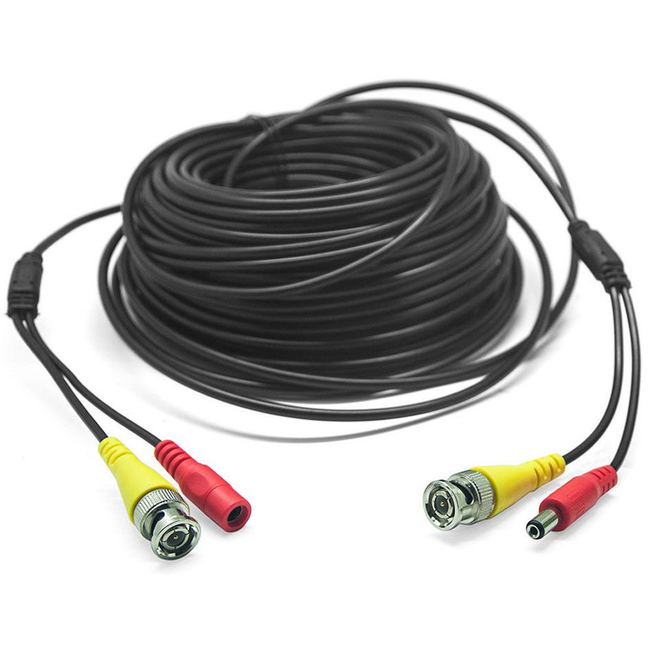 15M 49FT BNC DC Power Audio Video AV Cable Extension Line Wire For ...