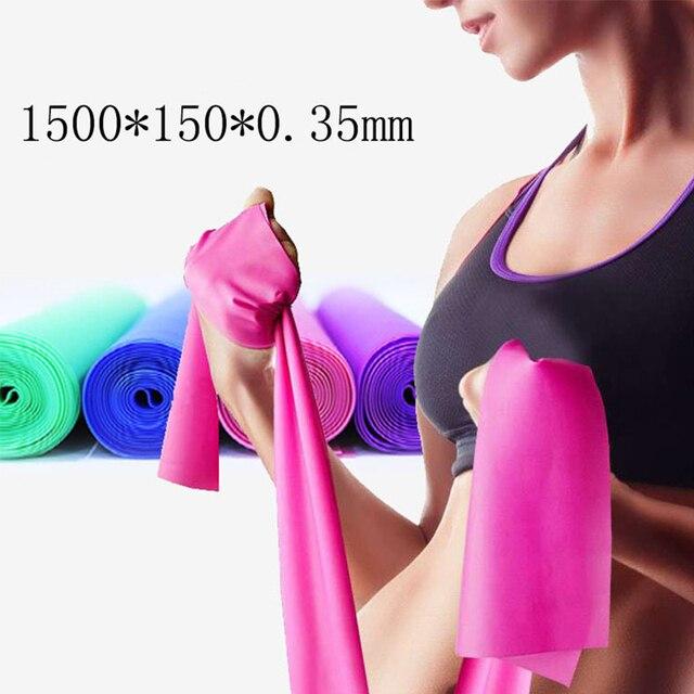 2018 Hot 1.5 M joga Pilates odporność na rozciąganie zespół sprzęt Fitness siłownia szkolenia lateks elastyczna taśma do ćwiczeń gumki recepturki