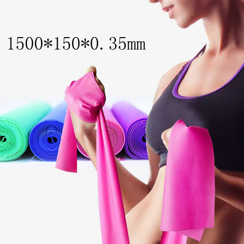 1a150a79bd5d ... Hot 1.5M Yoga Pilates Stretch Resistance Band GYM Fitness Equipment Training  Latex Elastic Exercise Band Rubber Loops on Aliexpress.com