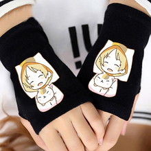 Anime Natsume's Book of Friends Cotton Knitting Wrist Gloves Mitten Lovers Anime Accessories Cosplay Fingerless Warm Gloves HOT