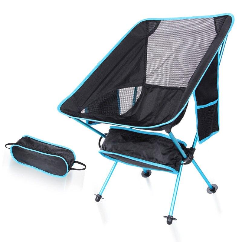 Nouvelle Arrivée Chaise De Pêche Camping Portable Pliant Amovible 7075 Prolongé En Extérieur Meubles Siège Chaise 5 Couleurs avec Poches