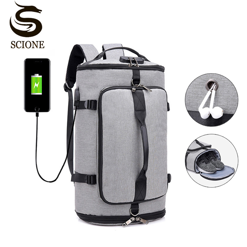 Men's 19inch Laptop Backpack Fashion Multi-function USB Charging Travel Shoulder Bag Students Weekends Backpacks For Teenagers