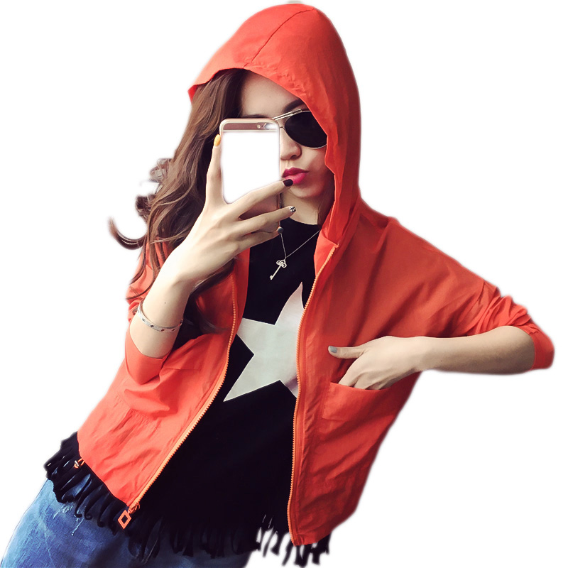 Jackets   Women 2019 New Fashion Bomber   Jacket   Women's Hooded   Basic     Jacket   Casual Thin Windbreaker Female Outwear Women Coat