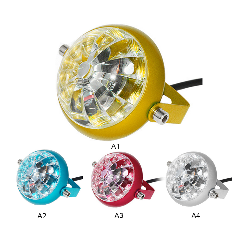 3-Color 12V Electric Motorcycle Car LED Chassis Light Under Motorbike Scooter Flasher Tail Brake Fog Lamp Universal #D1