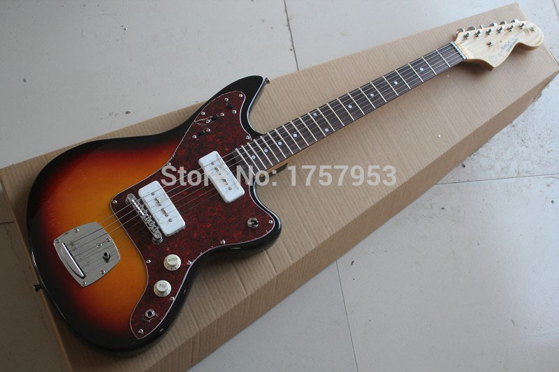 цены  Free Shipping Factory custom shop 2017 New Style Top quality  jazz master JAGUAR sunburst  Electric Guitar In   1 1