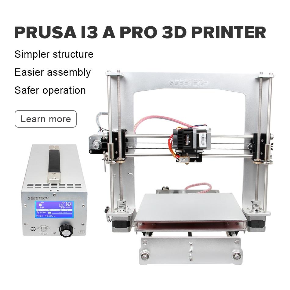 Free Taxes Geeetech i3 A Pro 3D Printer Full Aluminum Frame High Quality Reprap Prusa DIY Kits with Power Control Box geeetech pro w prusa i3 diy cloud 3d printer kit