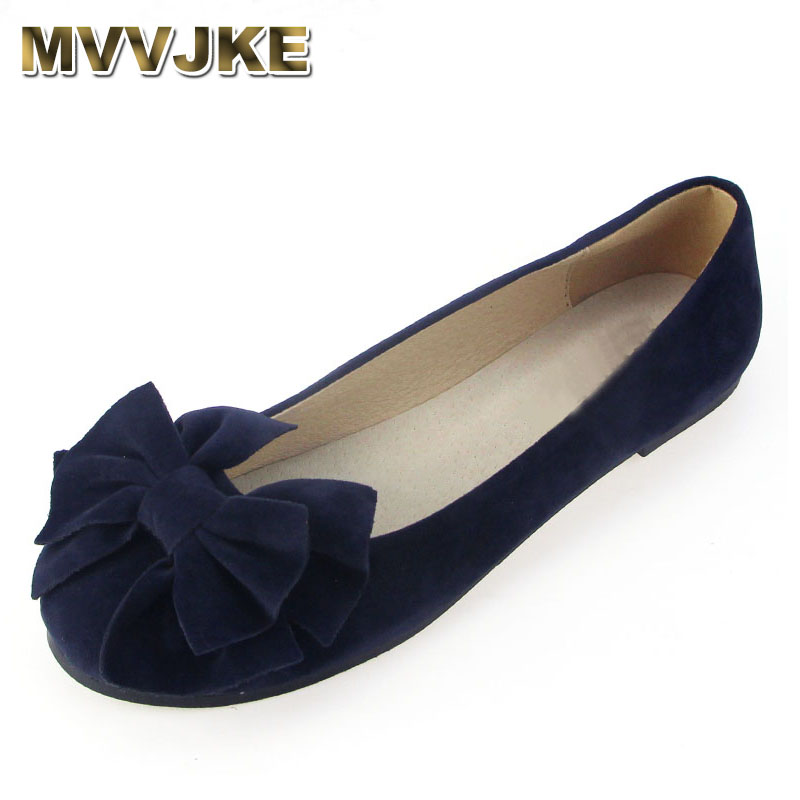 MVVJKE New 2018 Spring Summer bow women single shoes flat heel soft bottom ballet work flats shoes woman moccasins size 35-43 timetang 2018 buckle knitted women single shoes square toe ballet flats soft bottom fashion work shoes woman flat shoes c084