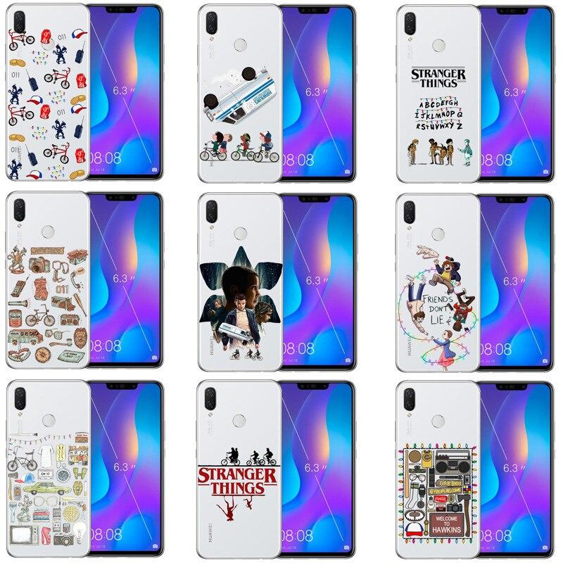 Coisas estranhas Coisas estranhas Luzes De Natal Caso de Para o Huawei Companheiro/P 8 9 10 20 Lite Plus coque Funda Suave Telefone cobrir