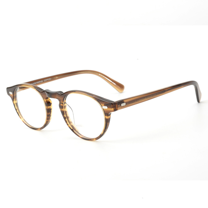 Gregory Peck OV5186 Vintage Eyeglasses Women Clear Frame Men Round Glasses Optical Frame for Prescription Lens  Round Glasses