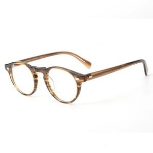 Image 1 - Gregory peck ov5186 vintage óculos mulher quadro claro óculos redondos homens armação óptica para prescrição lente óculos redondos