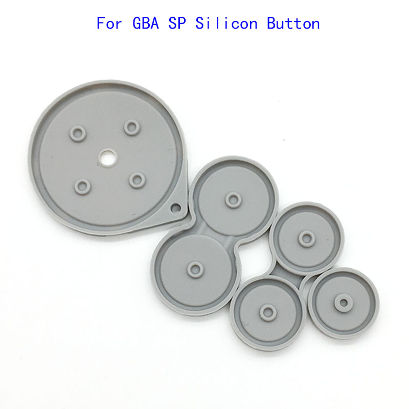 60 Set Silicon Conductive Key Pads Buttons Pads Replacement For GameBoy Advance SP GBA SP Game console