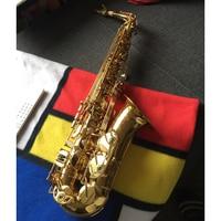 Popular Selling French Henri Selmer Paris Alto Saxophone SAS 802 E Flat Electrophoresis Gold Sax Top