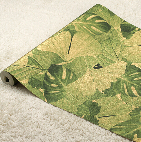 3D Southeast Asia banana Leaf Wallpaper 3D Art Background Wallpaper Roll Luxury Hotels Commercial PVC Waterproof Wall Paper
