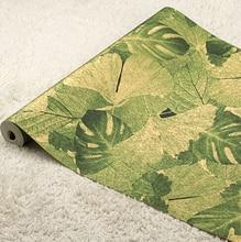 3D Southeast Asia banana Leaf Wallpaper 3D Art Background Wallpaper Roll Luxury Hotels Commercial PVC Waterproof Wall Paper