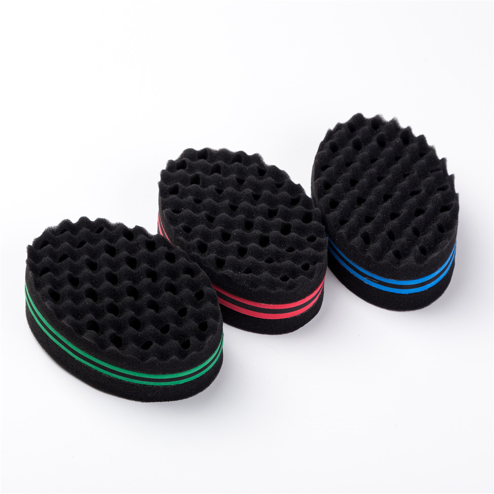 Camouflage Stripes Magic Twist Hair Brush Sponge Curl Sponge Brush For Natural Hair Afro Coil Wave Dreads Styling Hair Rollers