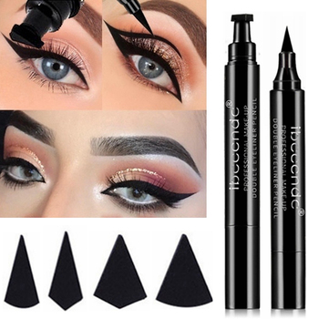 4 Style Eyeliner Stamp Pencil Black Liquid Makeup Waterproof Long-lasting Eye Liner Wing Stamps Eyes Liners Marker Pen Eyeliners