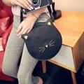 Quality PU leather Women bag 2016 fashion handbags Messenger packet cute kitty cat ears buns shoulder female bag large capacity