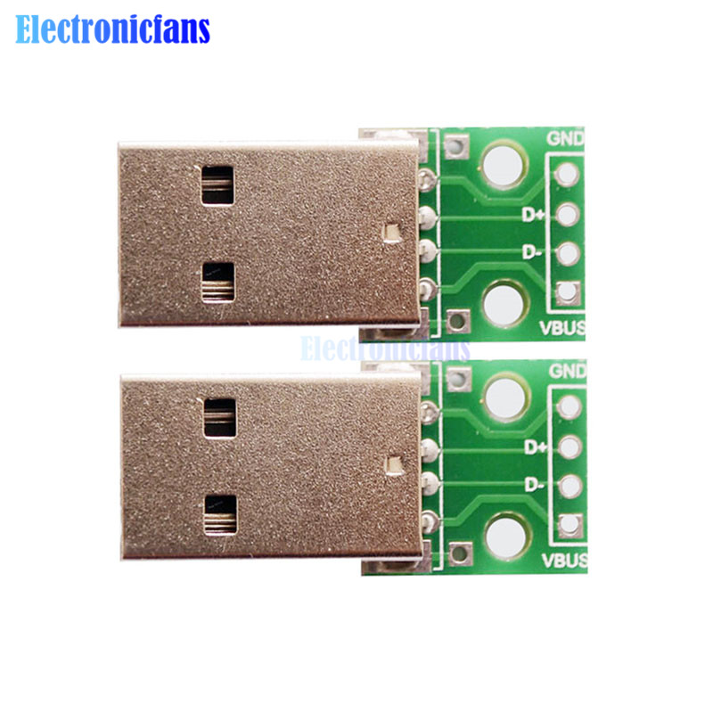 5pcs USB to DIP Converter Adapter 4pin for 2.54mm PCB Board DIY Power Supply NEW