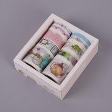 10 Pcs/Box Fantasy ocean Beautiful flowers plant washi tape diy decoration for scrapbooking masking tape adhesive tape (China)
