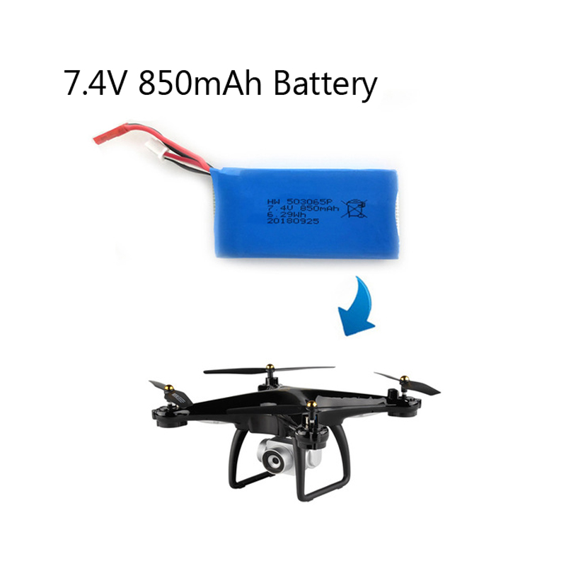 Original 7.4V 850mAh Lipo Battery for JJRC H68G GPS RC Quadcopter Helicopter Accessories Drone Spare Parts