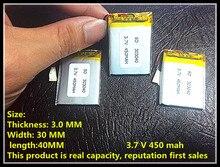 MAH para LI China Fornecedor Shenzhen Fábrica OEM 303040 3.7 V Lipo Bateria RC 450 Polímero Pequeno Helicóptero Gps Mp3 Mp4 Ferramentas