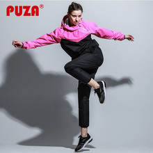 PUZA Tracksuit Sweating Loss Weight Slimming Running Sets Bodybuilding Training Fitness Sauna Suits Womens Lady Girls Gym Sports