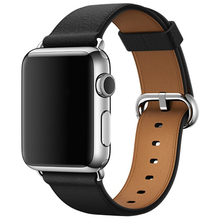 hot deal buy genuine leather classic buckle for apple watch band replacement classic buckle watch band for apple watch bands 38mm and 42mm