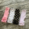 girls spring ice leggings pant 5 colors in stock full length pant rose pant polka dot pant children trousers cotton ruffle pants