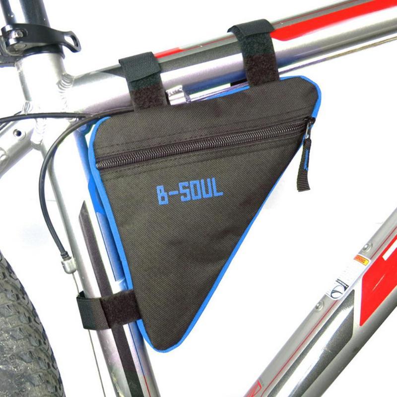 Сумка для горного велосипеда, передняя Труба, треугольная сумка, водонепроницаемый держатель, седло, велосипедная сумка, красный, синий, сер...