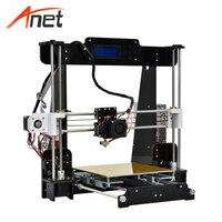 Анет A8 3D принтеры 0,4 мм сопла 220*220*240 мм широкоформатной печати Размеры высокая точность DIY 3d комплект настольный принтер без нити