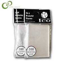 100 개/가방 65*90mm 카드 슬리브 카드 수호자 배리 매직 수집 mtg Pokmen tcg 보드 게임 슬리브 GYH