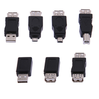 Высокое качество 39 шт. otg 5pin f/m мини usb зарядное устройство адаптер конвертер usb мужчина к женский micro usb адаптер usb гаджеты