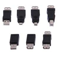 Hoge kwaliteit 39 stks otg 5pin f/m mini usb charger adapter converter usb man-vrouw micro usb adapter usb gadgets