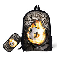 New Personality School Supplies Student Backpack+Pencil Case Animal Printing School Bags For Girls Boys+Pencil Box Mochilas