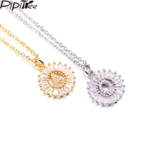 US $4.76 |Pipitree Copper White Cubic Zirconia 26 Alphabet Letter Pendant Necklaces A Z Initial Charm Chain Necklace Women Jewelry Collar-in Chain Necklaces from Jewelry & Accessories on AliExpress - 11.11_Double 11_Singles' Day