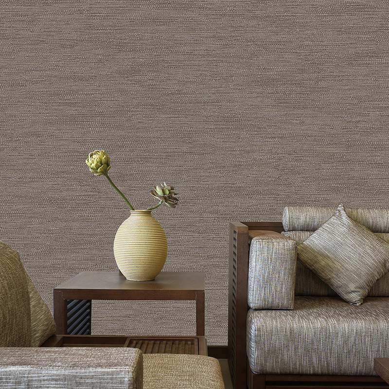 Beibehang Simple non - woven wallpaper living room bedroom home improvement hotel hotel works linen foam 3d wallpaper roll mural