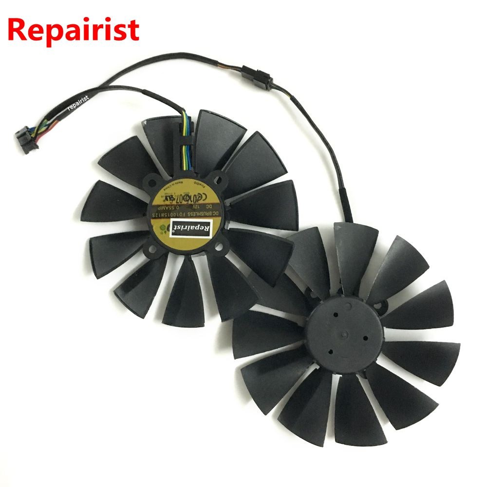 R9 380/380X GPU Cooler VGA fan for ASUS STRIX-R9380 STRIX-R9380X video Graphics Card cooling as replacement computer cooler radiator with heatsink heatpipe cooling fan for asus gtx460 550ti 560 hd6790 grahics card vga replacement