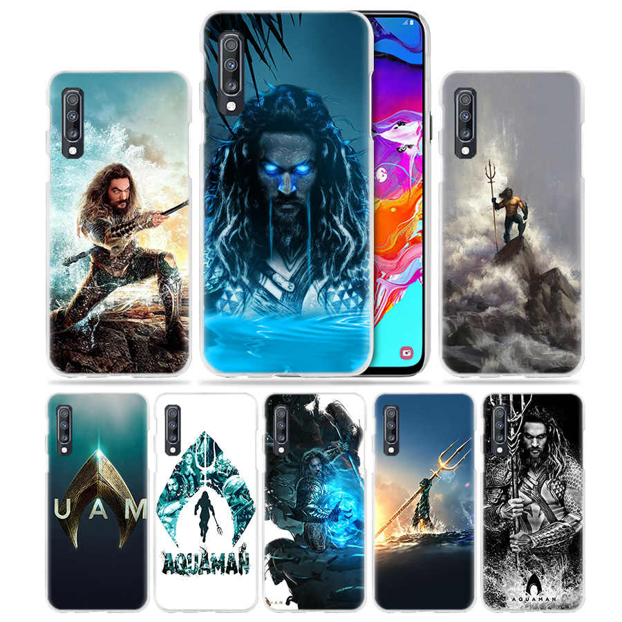 Aquaman Jason Momoa Case for Samsung Galaxy M40 A50 A80 A70 A60 A40 A30 A20e A10 J4 J6 Plus J8 2018 S10e Hard PC Phone Cover