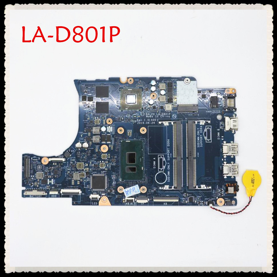 For DELL 5567 5767 Laptop motherboard I7-7500U CPU BAL20 LA-D801P CN-0Y8N7H 0Y8N7H Mainboard with graphic cardFor DELL 5567 5767 Laptop motherboard I7-7500U CPU BAL20 LA-D801P CN-0Y8N7H 0Y8N7H Mainboard with graphic card